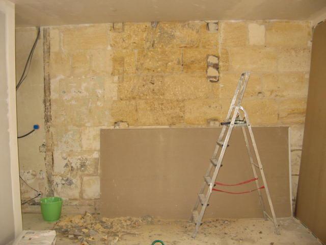 Ma maison mes travaux 2e mur en pierre for Travaux mur mitoyen maison